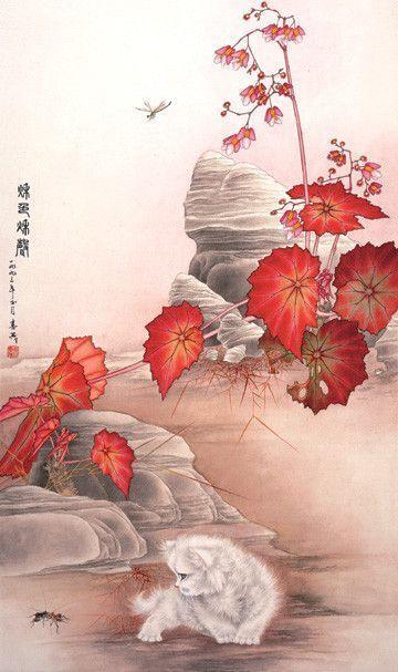 Art asiatique serie 2 (chats ) M.C