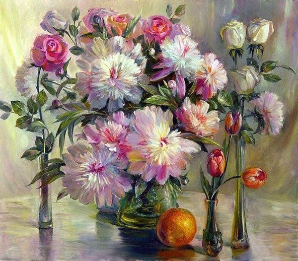 Nature morte ( fleurs et divers )