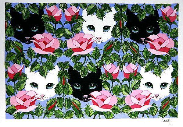Chats ou chiens en illustrations