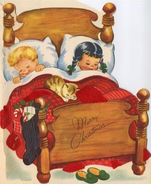 hiver et noel illustrations vintages page 11. Black Bedroom Furniture Sets. Home Design Ideas
