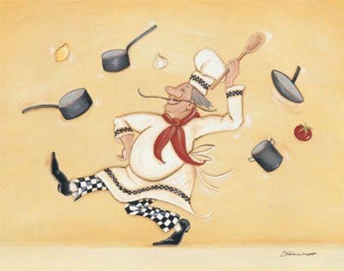 Dessin de cuisinier humoristique gratuit ustensiles de - Cuisinier dessin ...