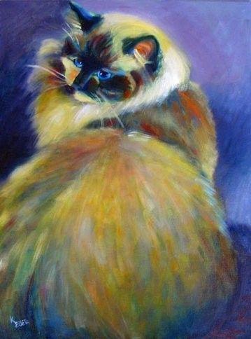 Chats et chiens peints ou illustrés