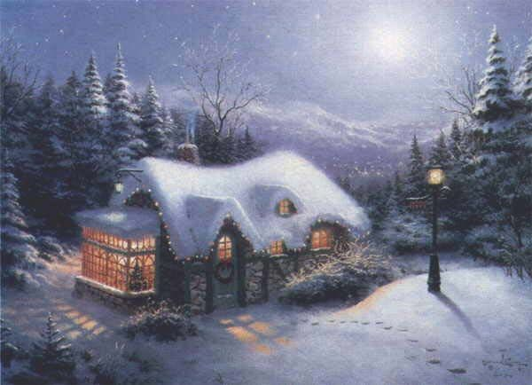Thomas Kinkade /  hiver
