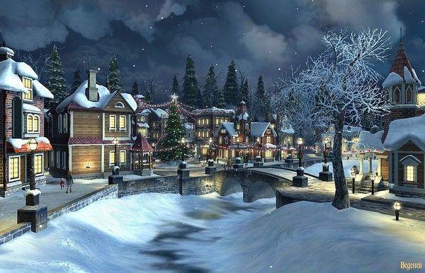 Les images de Noël (Paysages et illustrations féeriques) 38f55c78