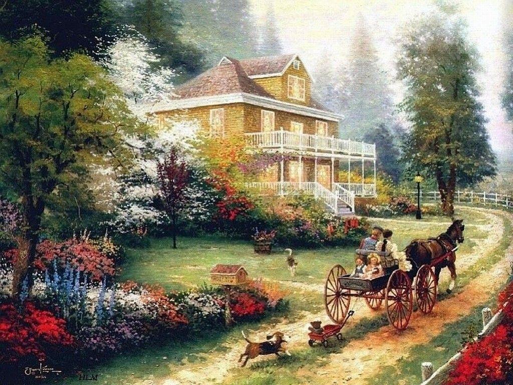 3x350eep dans fond ecran paysage de maison