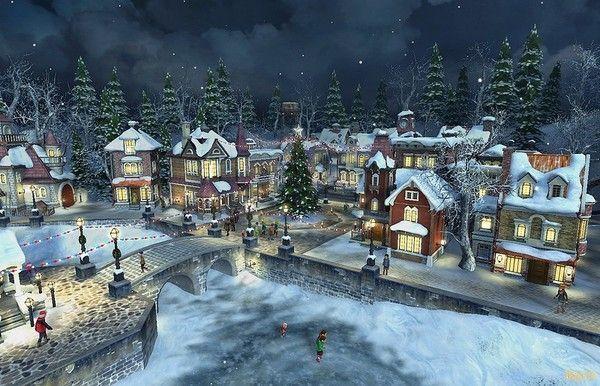Les images de Noël (Paysages et illustrations féeriques) 4095b4d5