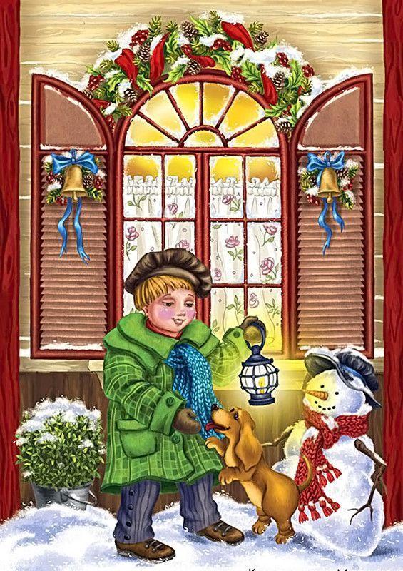 Les images de Noël (Paysages et illustrations féeriques) 4bdf3683