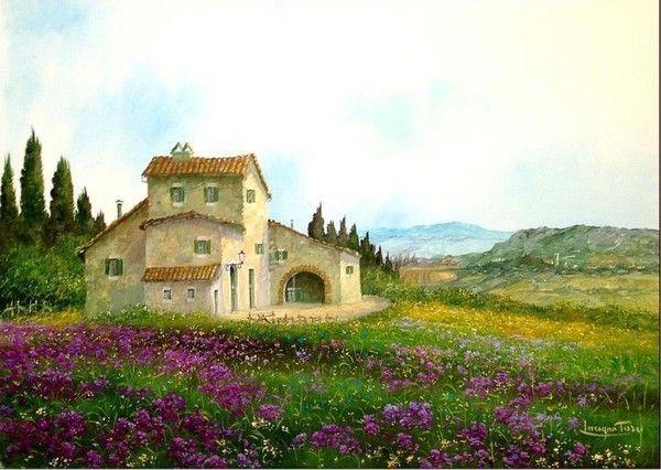 24- cottages & villages en peinture B  ( L.T)