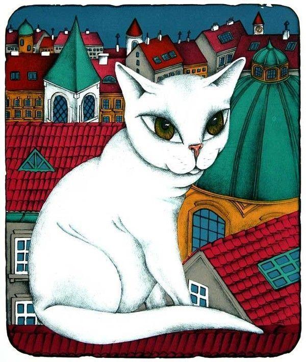 Chats peints serie C ( F.P )