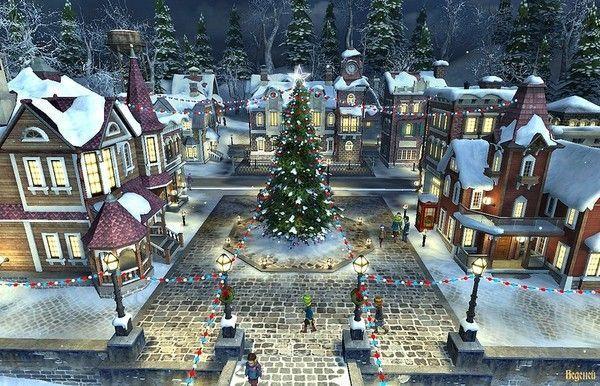 Les images de Noël (Paysages et illustrations féeriques) 716b0c1a