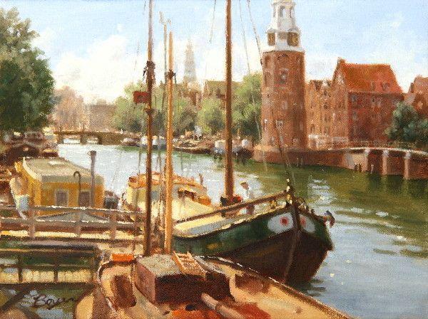 Paysages en peinture serie B  ( Richard BOYER )