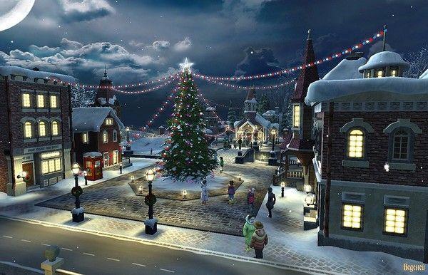 Les images de Noël (Paysages et illustrations féeriques) 77eeeb34