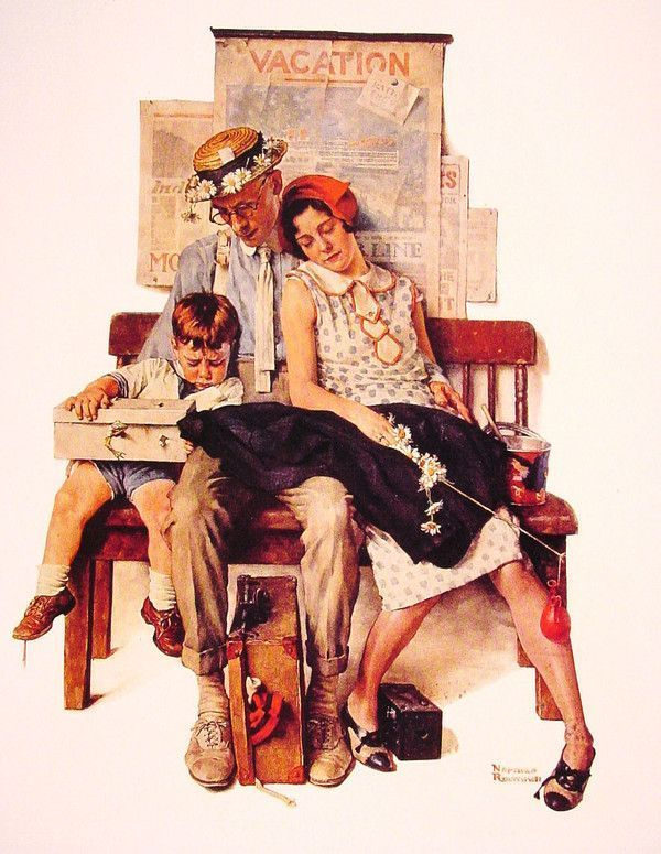 Illustrations vintage de N.Rockwell
