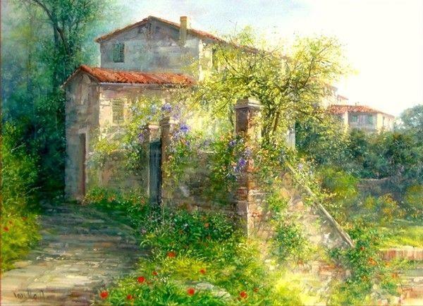 24-Cottages et villages en peinture B ( A.V )
