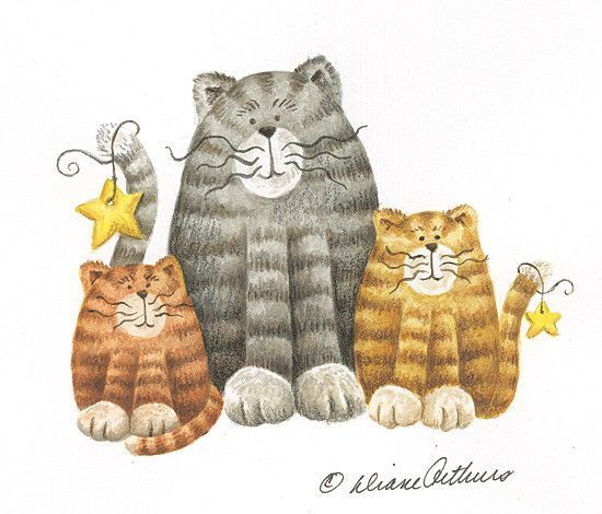 Chats en mignonnes illustrations D.A