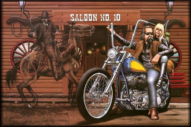 Illustrations Bikers