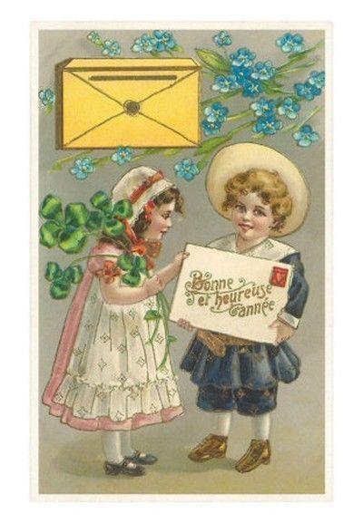 hiver noel cartes postales anciennes nouvel an. Black Bedroom Furniture Sets. Home Design Ideas