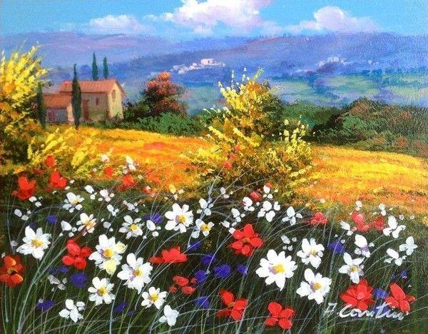 Fleurs fruits jardins en peinture 2 (A.C)