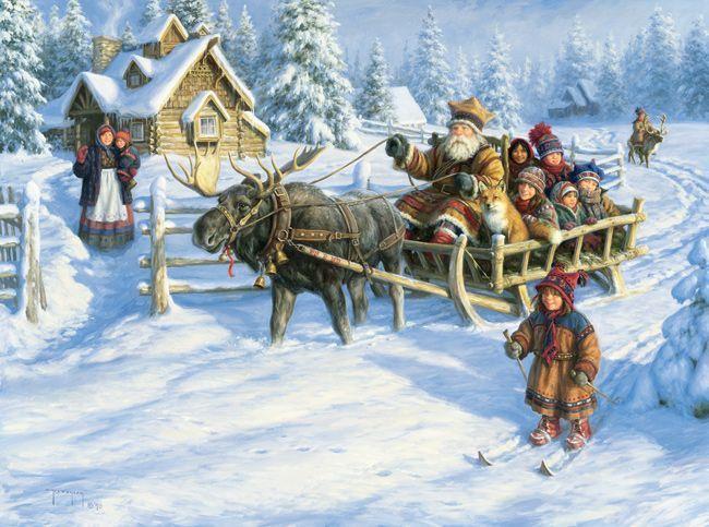 L hiver en peinture Ckx38aq8