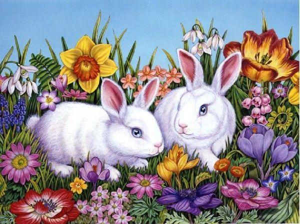 petits lapins peinture