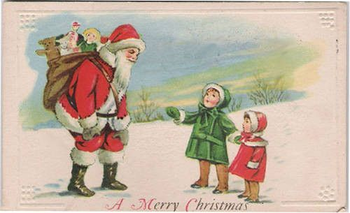 Hiver et noel cartes postales anciennes page 3 - Cartes de noel anciennes ...