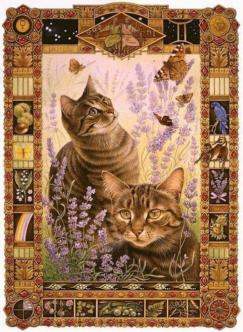 14-chats en peintures serie A