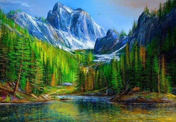 Paysages en peinture C    ( A.K)