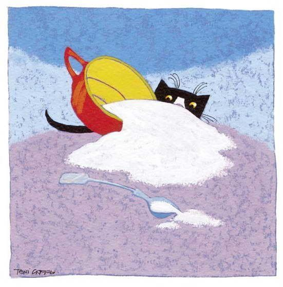 Chats en mignonnes illustrations