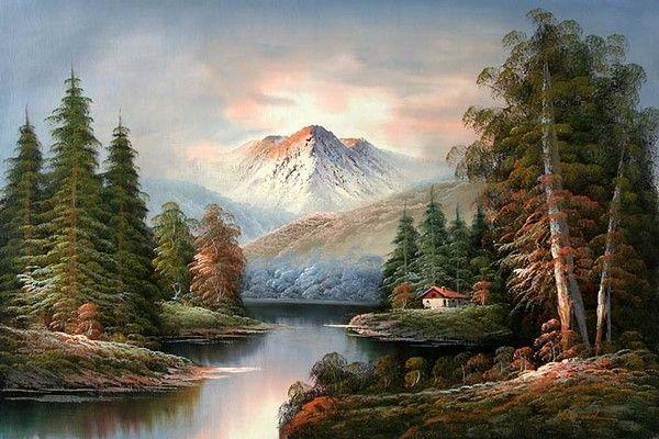 Yağlı boya doğa manzaraları yağlı boya resimleri