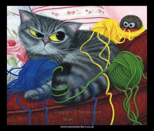 Tamsin Lord, feline cats ,cat art, UK, une fleur de paris,