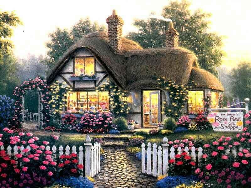 Fonds d 39 ecrans cottages for Photos cottages anglais