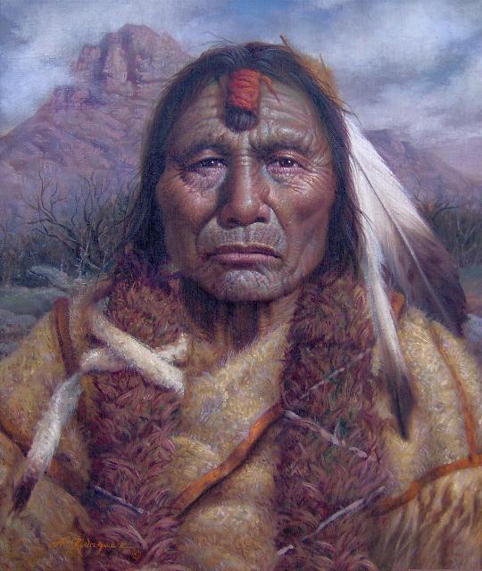 Sehr Amerindiens western art et divers de Alfredo Rodriguez XN99