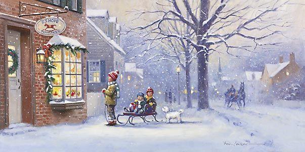 Illustrations De Linda Picken Hiver Paysages Et Fetes Page 8