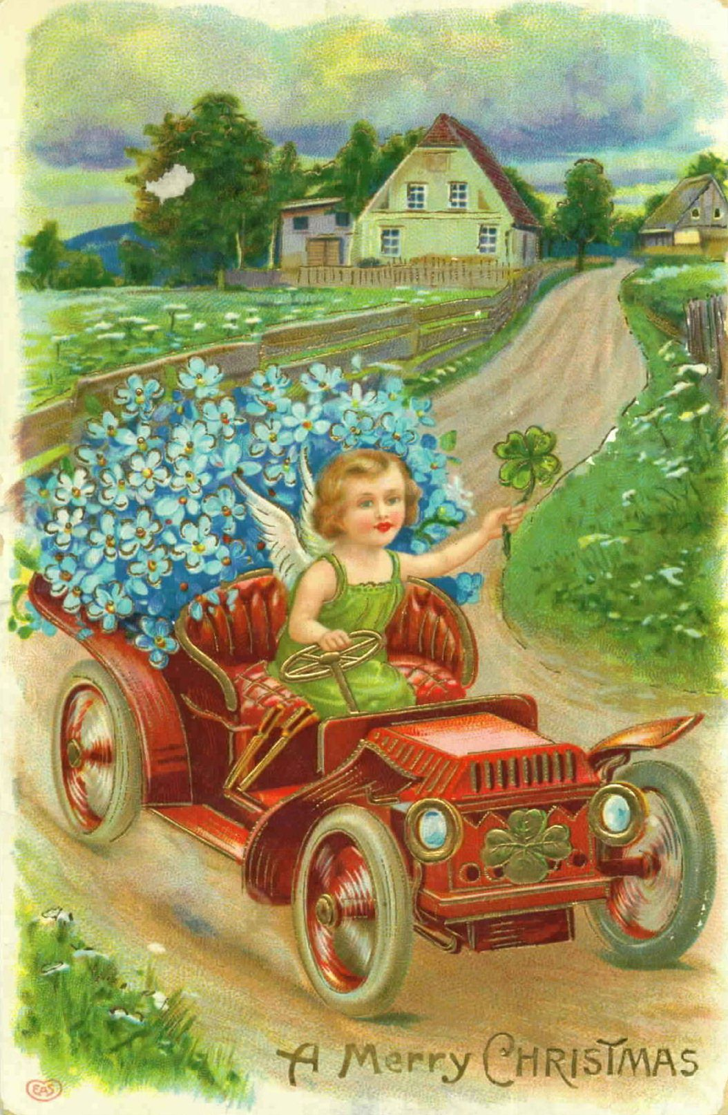 Hiver noel cartes postales anciennes - Cartes de noel anciennes ...