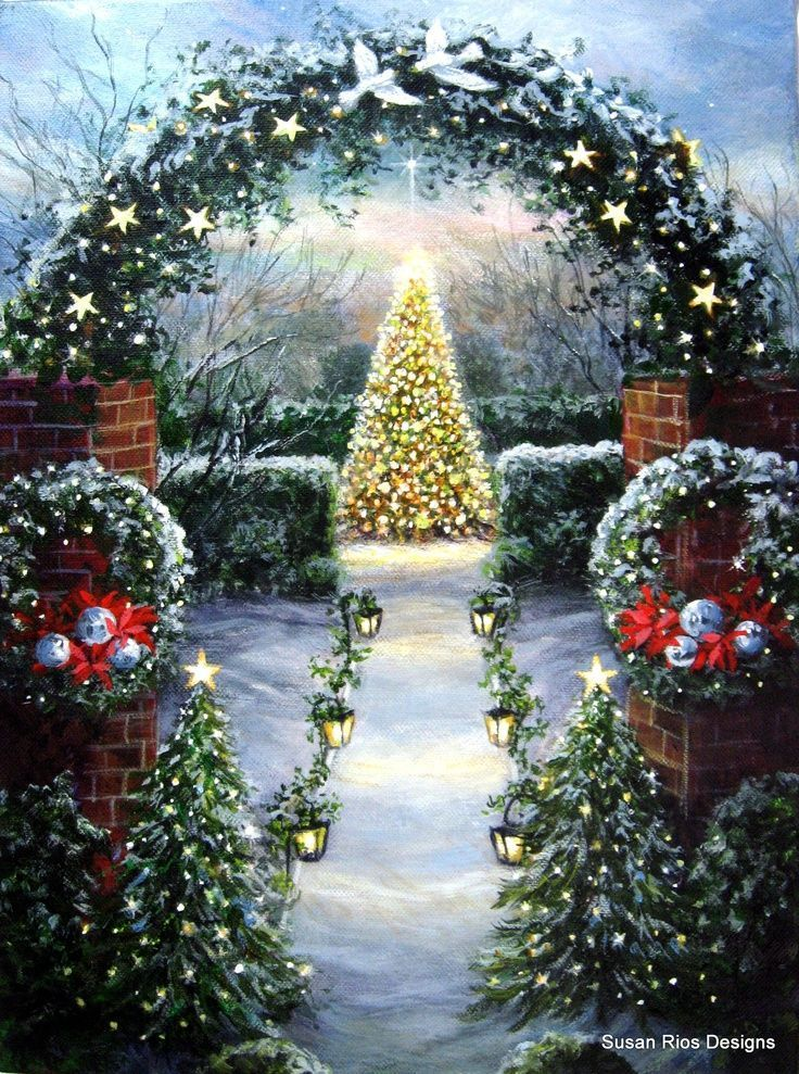 1000 images about autour de l 39 hiver on pinterest snow for Christmas images paintings