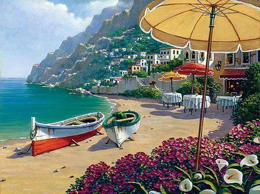 Divers villages et villes en peinture for 453 bellagio terrace