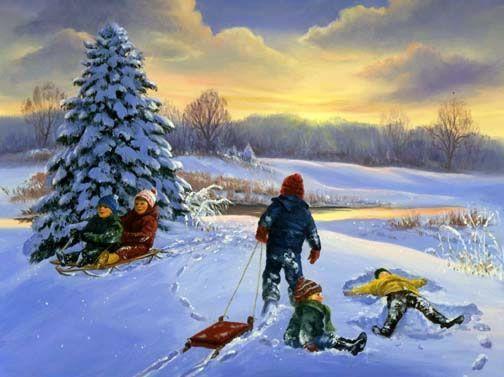 illustrations de linda picken hiver paysages et fetes page 2. Black Bedroom Furniture Sets. Home Design Ideas