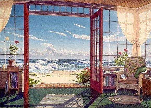 Thème:  fenêtres, portes, ouvertures vers l'extérieur... dans Art et Peintures (64) u996bro9