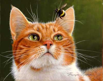 Beaux tableaux de Francois Spreux / chats